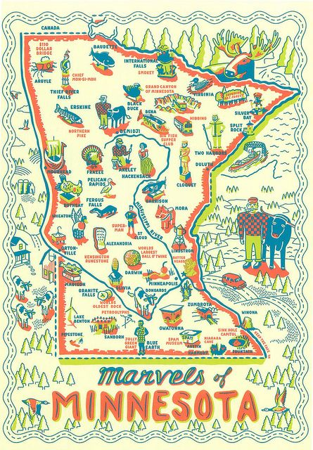 Minnesota Marvels Map To Trade Minnesota Minnesota Bucket List Minneapolis Minnesota