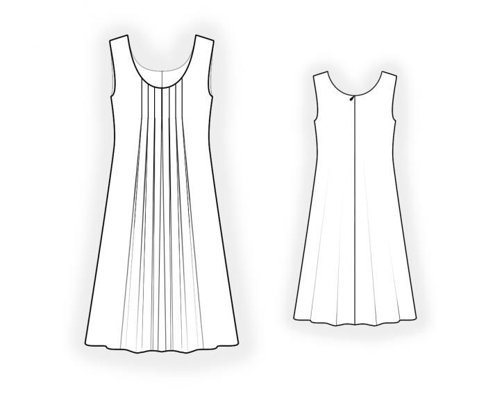 Sleeveless Dress - Sewing Pattern #4667 Made-to-measure sewing ...