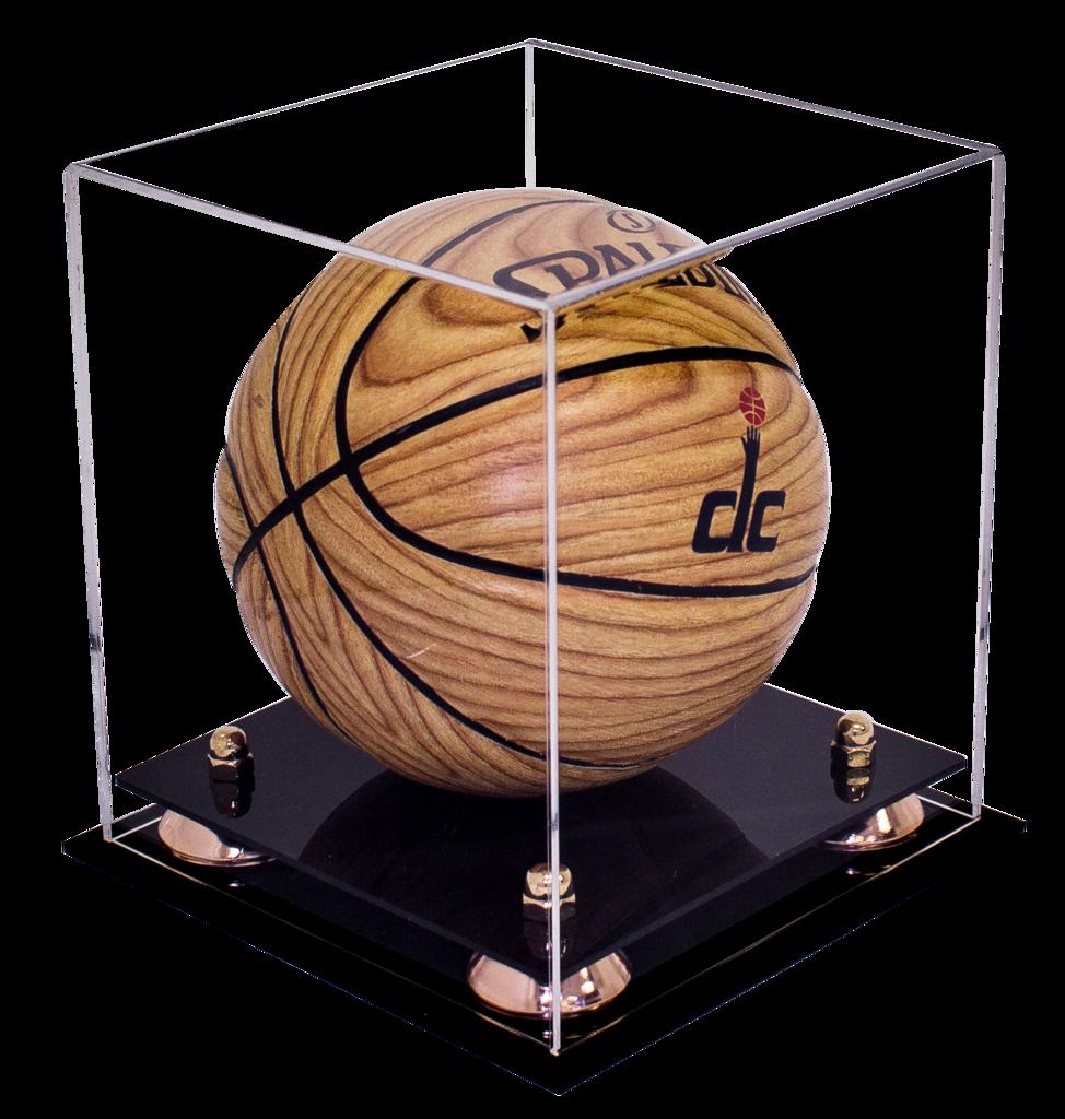 7b6d9a4bc36 MINI - Miniature (not full size) Basketball Clear Display Case NCAA ...