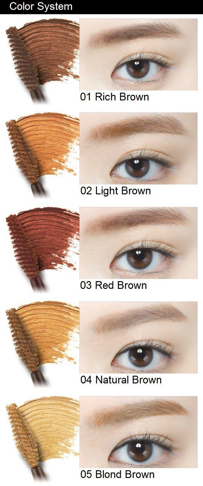 Etude House Color My Brows Eyebrow Mascara Eyebrow Shaping Threading Facial Hair Eyebrow Mascara
