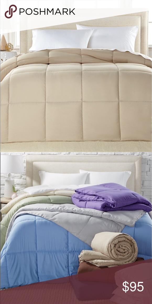 Khaki Goose Down Alternative Comforter King Size Royal Luxe Lightweight Microfiber Khaki Color Down Alternative King Comf King Comforter Comforters King Size