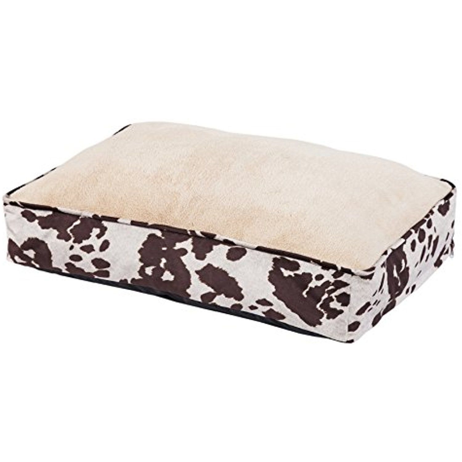 HiEnd Accents DB3067 Cowhide Pattern Dog Bed, Multicolor