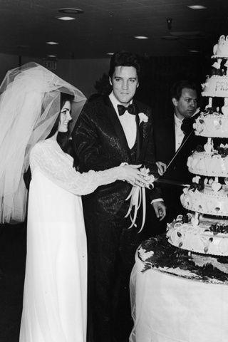 novias que hicieron historia   elvis   priscilla presley wedding