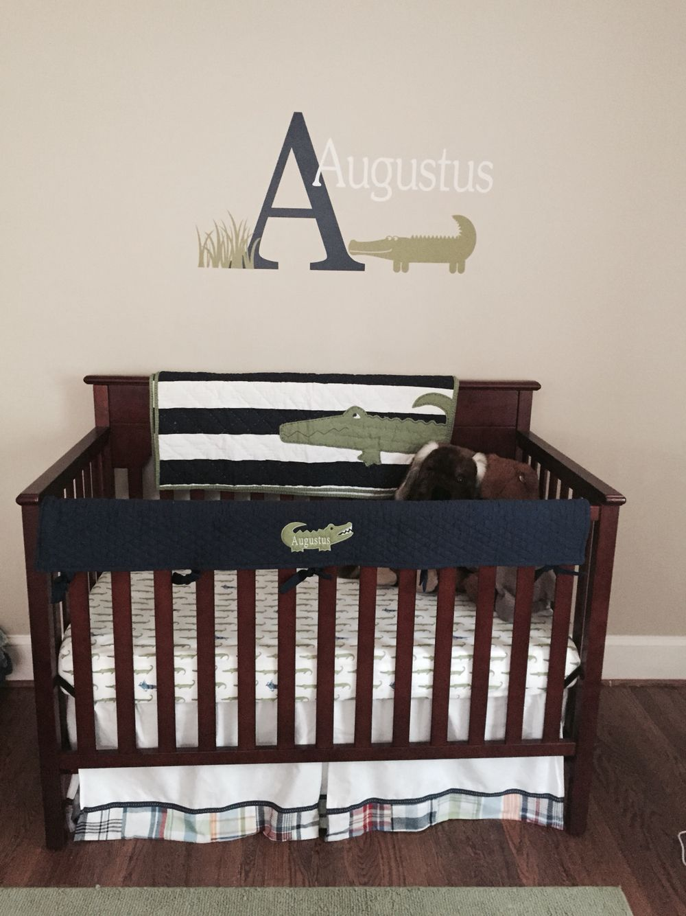 Pottery Barn Alligator Madras Plaid Nursery Bedding With Etsy Highlights