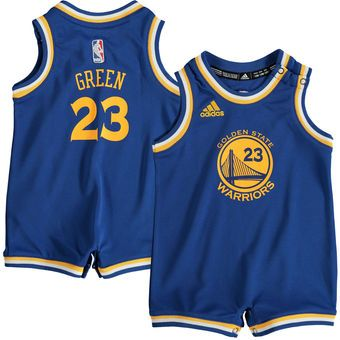 60878d13c Infant Golden State Warriors Draymond Green adidas Royal Road Replica Jersey  Romper