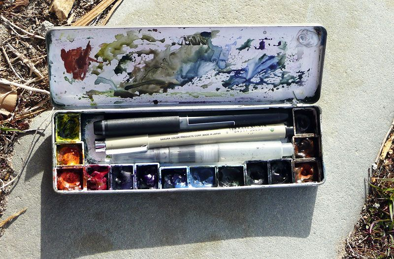 I Want To Make A Watercolor Palette From Pencil Tin Watercolor