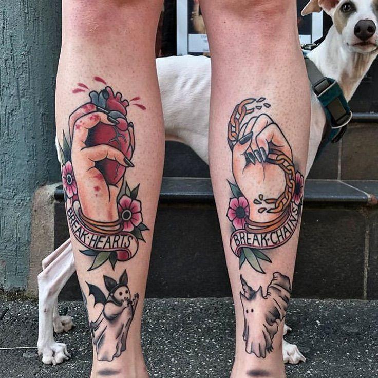 Break Hearts • Break Chains Tattoo Tattoo Ideas and
