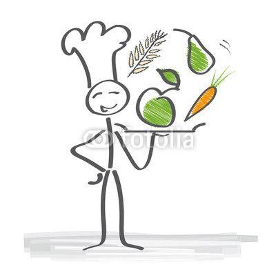 Vegetarische k che gesunde ern hrung kochen koch for Koch zeichnen