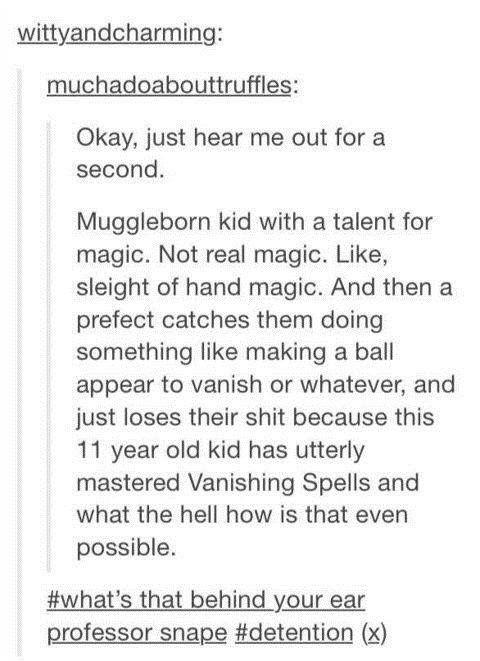 Muggleborns Knowing Muggle Magic Tricks | Harry Potter