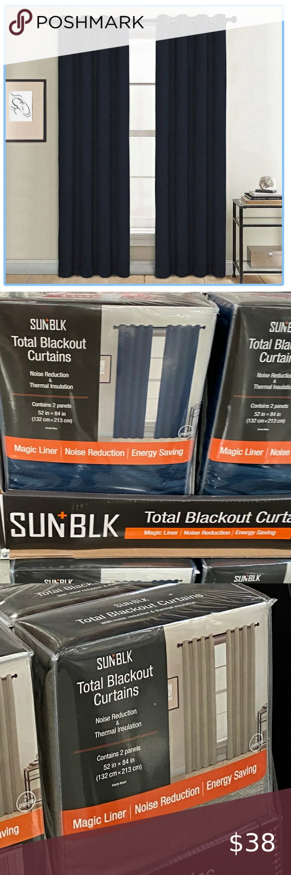 Total Blackout Curtains In 2020 Blackout Curtains Thermal Curtains Curtains