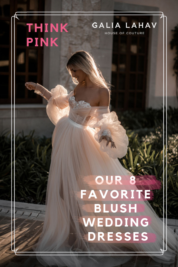 Think Pink Our 8 Favorite Blush Wedding Dresses Wedding