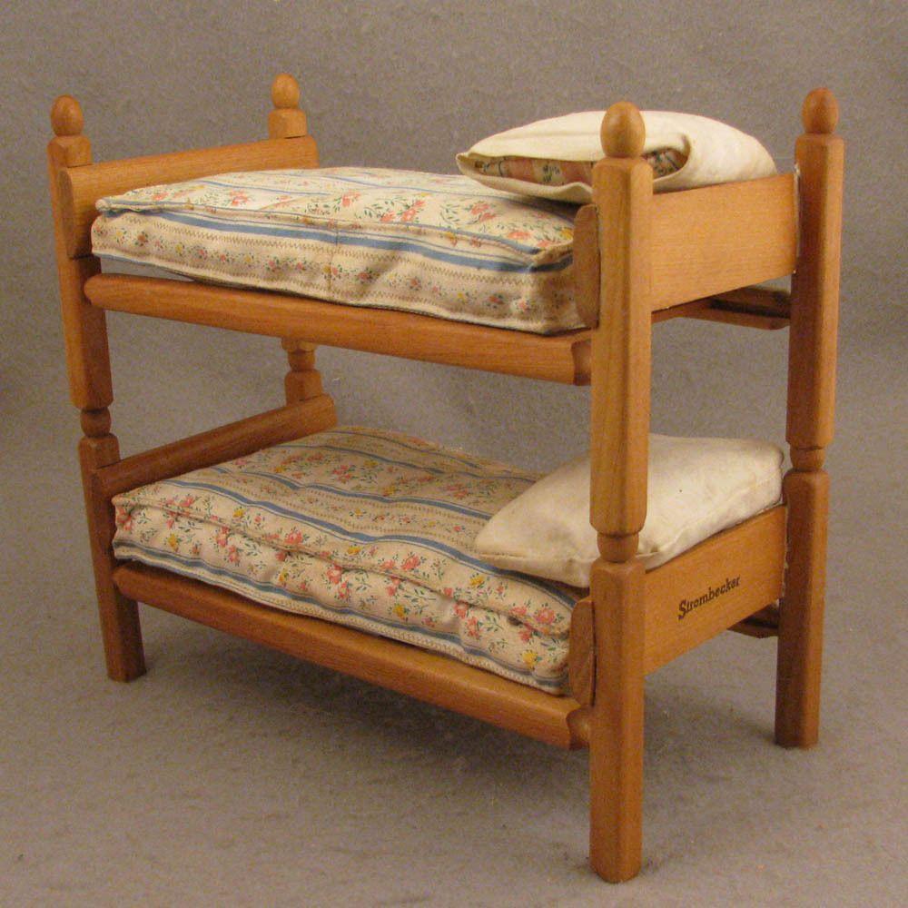 1950s Dolls' Strombecker Bunk Beds Set + Mattresses