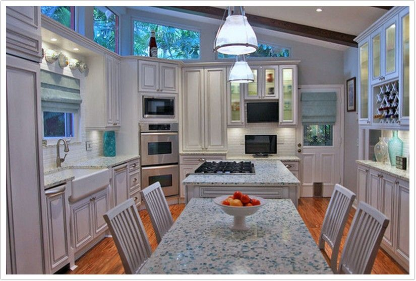 Not A Galley Kitchen But Came Up In Search Results Because Counter Top Is  The Vetrazzo Recycled Glass I Love. Still, Kept In Kitchen Board As Love  The ...