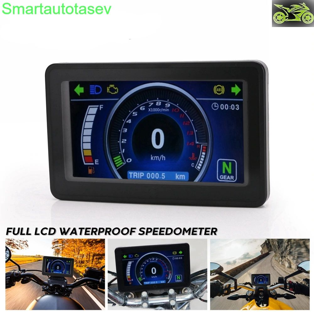 Universal Motorcycle 1 2 4 Cylinder Lcd Display Multi