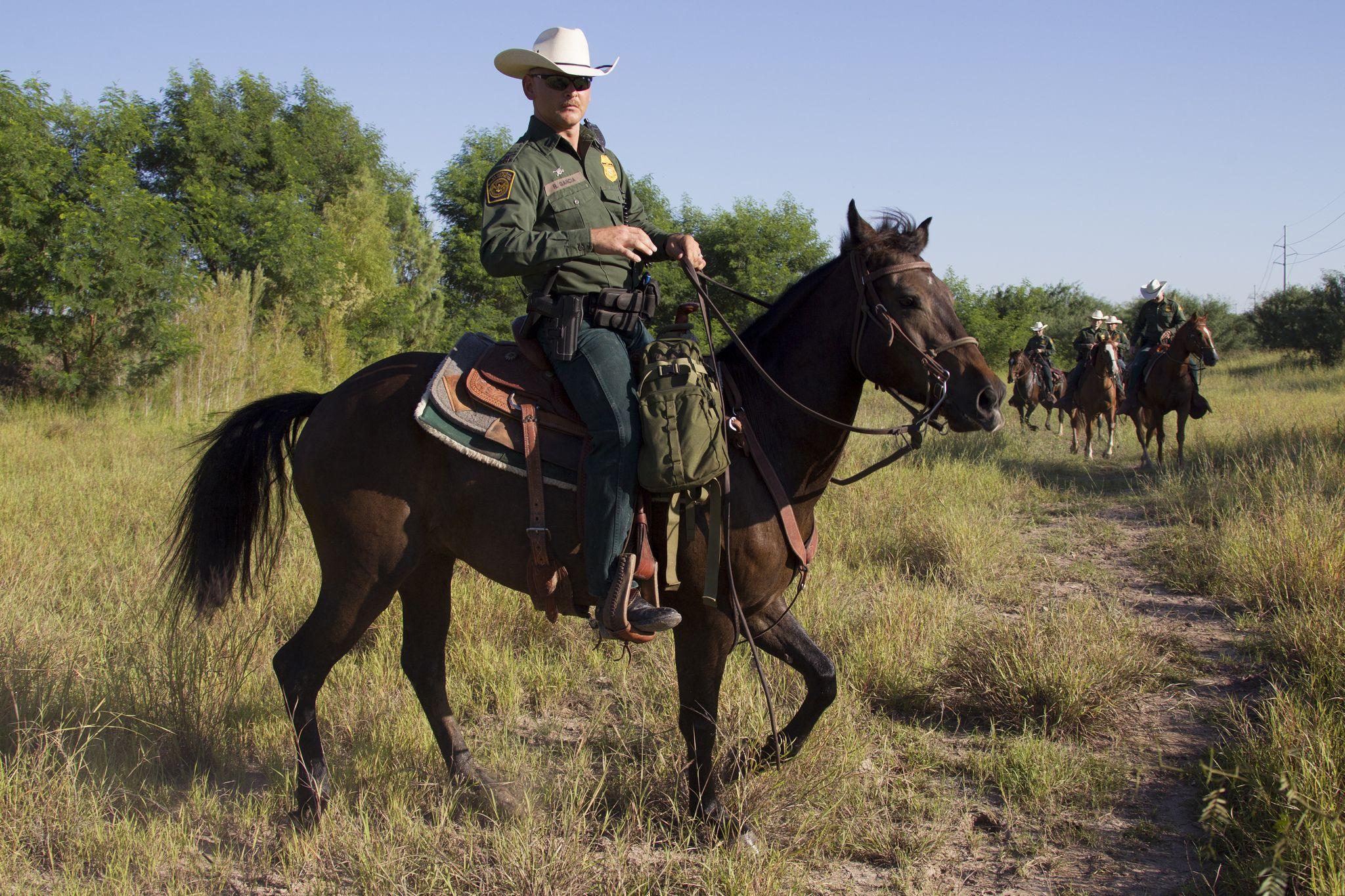 south texas  border patrol agents  mcallen horse patrol unit