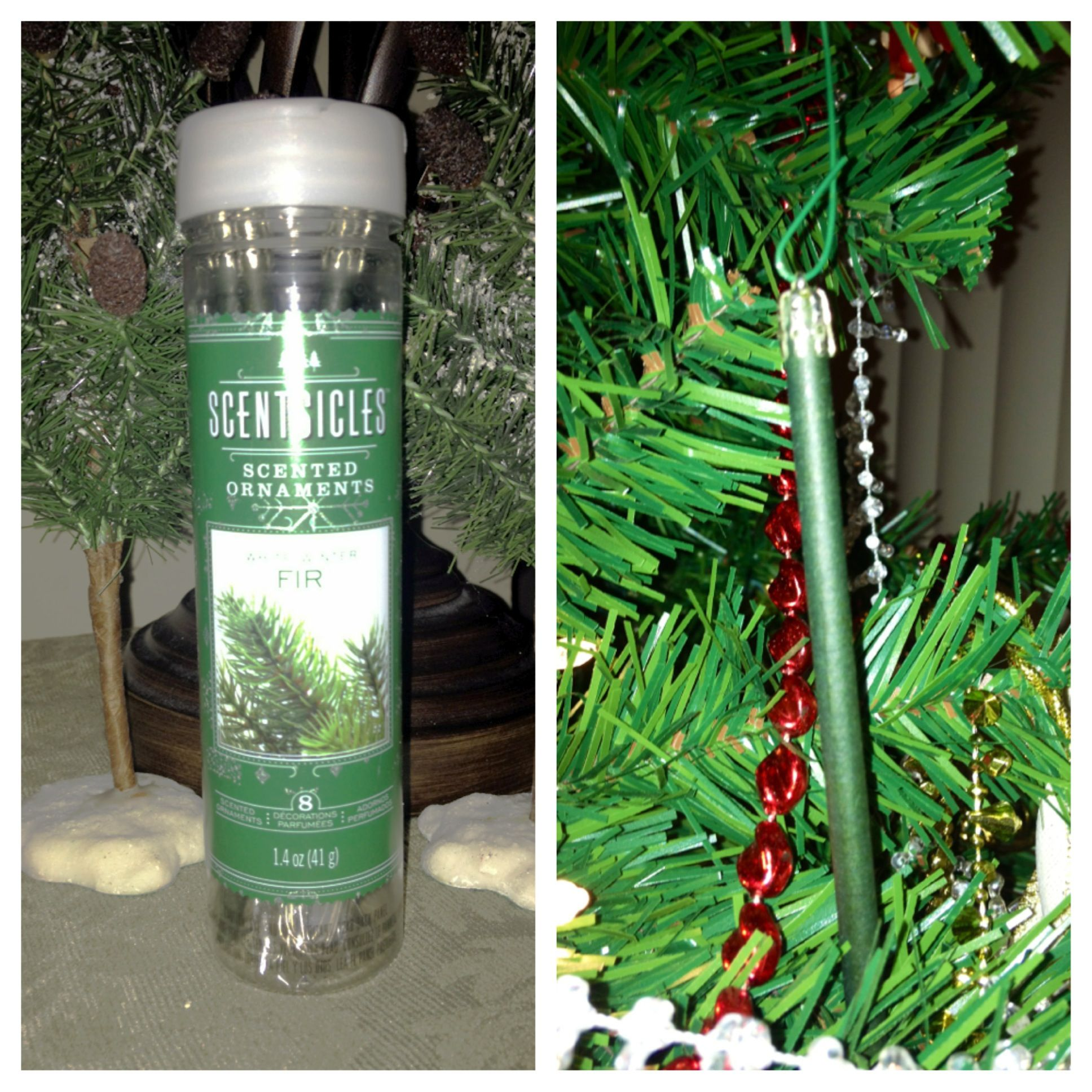 scented ornament sticks for fake christmas trees gives them a real christmas tree scent