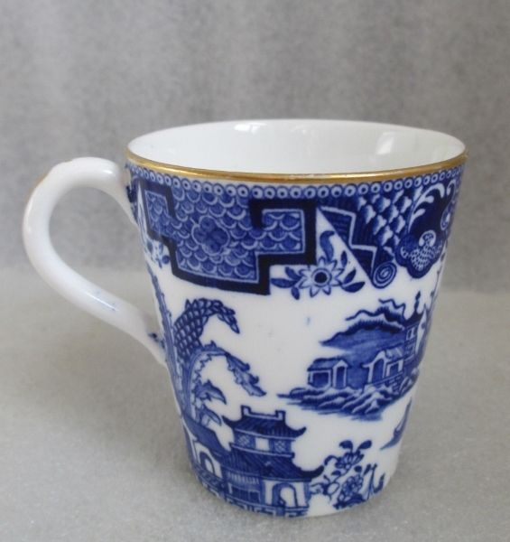 Royal Worcester Dainty Coffee Can Demitasse Cup Only Flow Blue Willow C 1876 | eBay