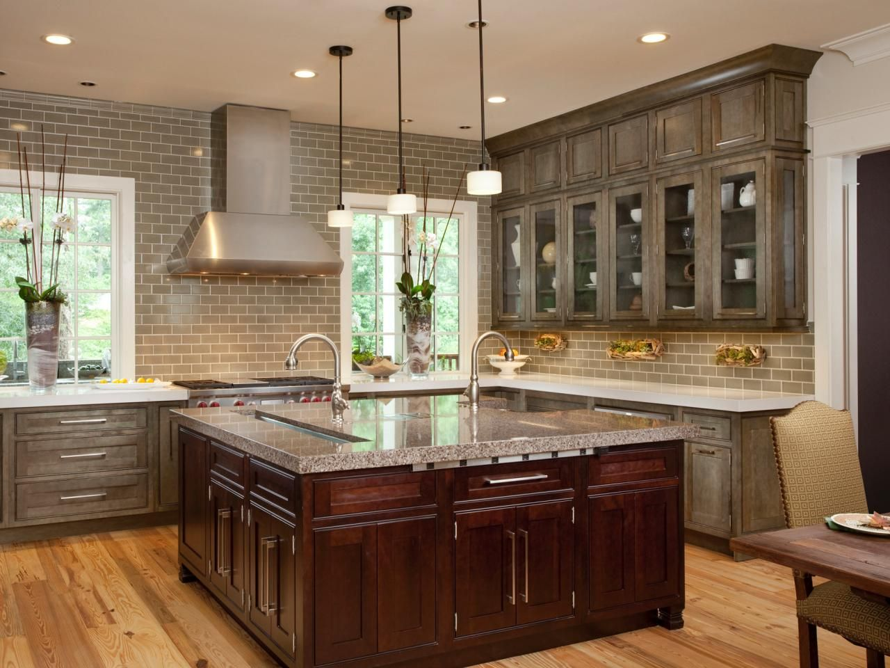 Best Gray Based Painted Cabinets That Complement The Cherry 400 x 300