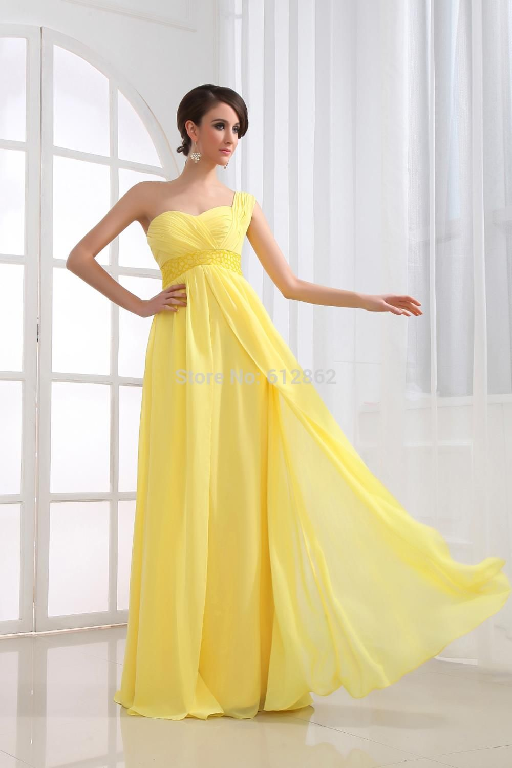 Cheap long yellow prom dress buy quality prom dresses directly