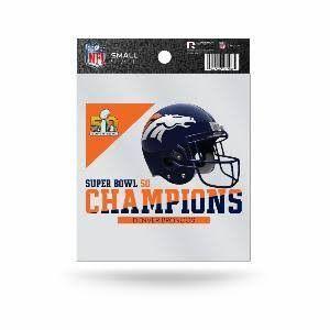 Denver Broncos Super Bowl 50 Champs Die Cut Static Cling