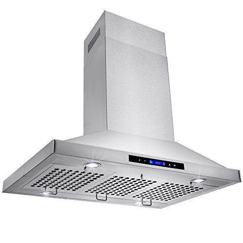 Golden Vantage Stainless Steel 36 Euro Style Island Mount Range Hood Lcd Screen Gv Stainless Steel Range Hood Stainless Steel Island Stainless Steel Hood Fan