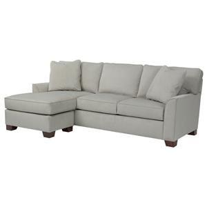 Marvelous Broyhill Furniture Claridge Flared Arm Chaise Sofa W Inzonedesignstudio Interior Chair Design Inzonedesignstudiocom