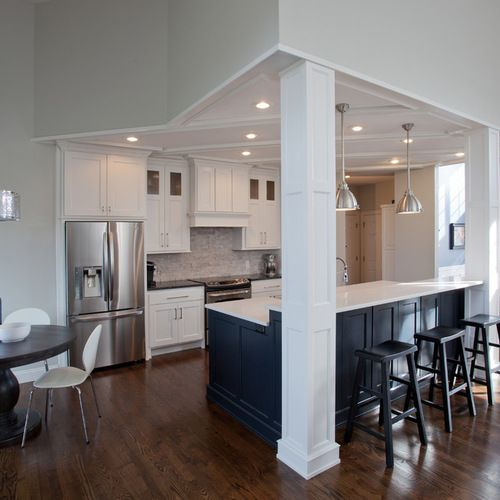 10x10 Kitchen Remodel Average Price For New Cabinets Raised Ranch With Load Bearing Wall Design Ideas ...