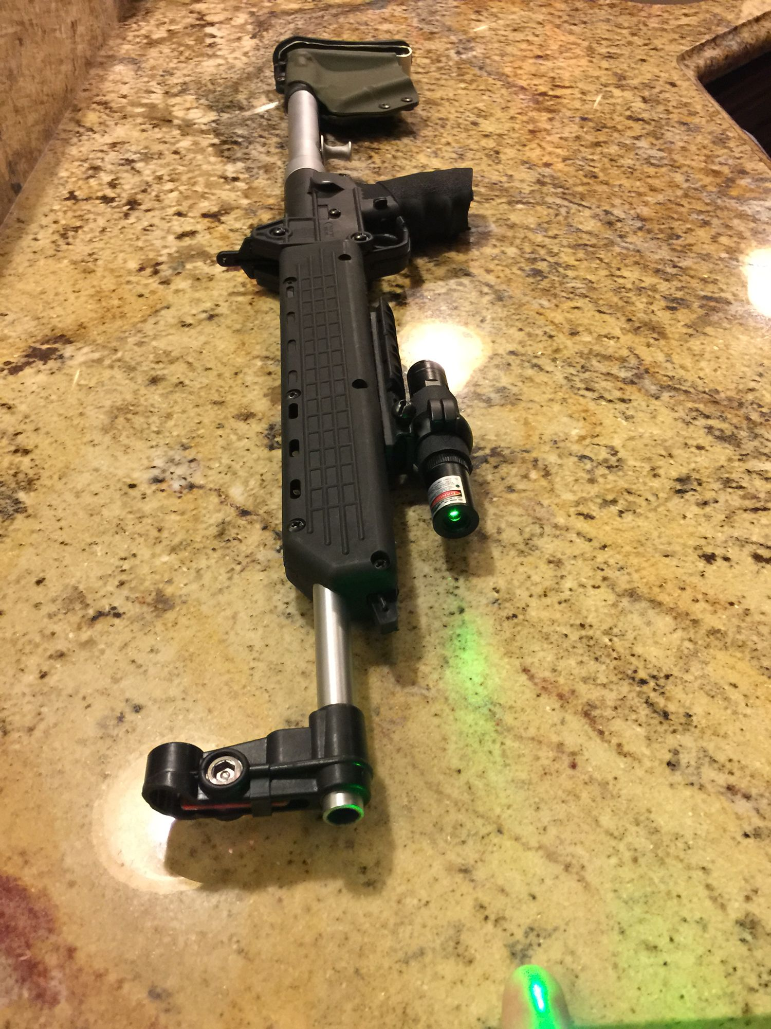 Sub 2000 Spare Magazine Holder Keltec sub 41k custom mods Laser light on magpul rail with scope 29
