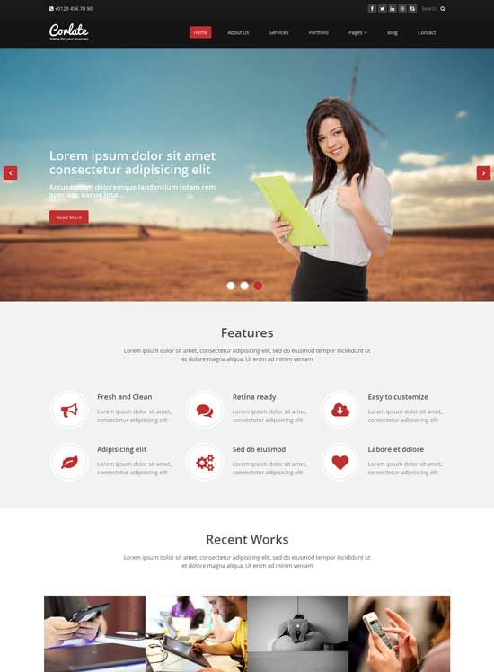 Corlate Free Responsive Bootstrap Html Template Bootstrap Template Templates Modern Website