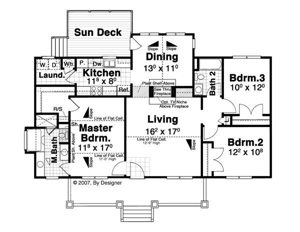 Floor Plan image of Featured House Plan: BHG - 8673