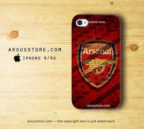 Arsenal Batik Wallpaper iPhone 4 4s Case | Dalmanaz - Accessories on ArtFire