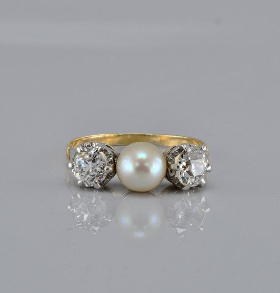 Victorian natural pearl and diamond rare trilogy..so beautiful
