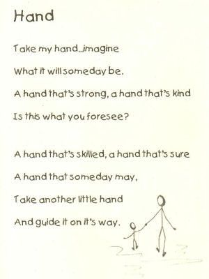 poem about child\'s hands | ... mini-poster, suitable for framing ...