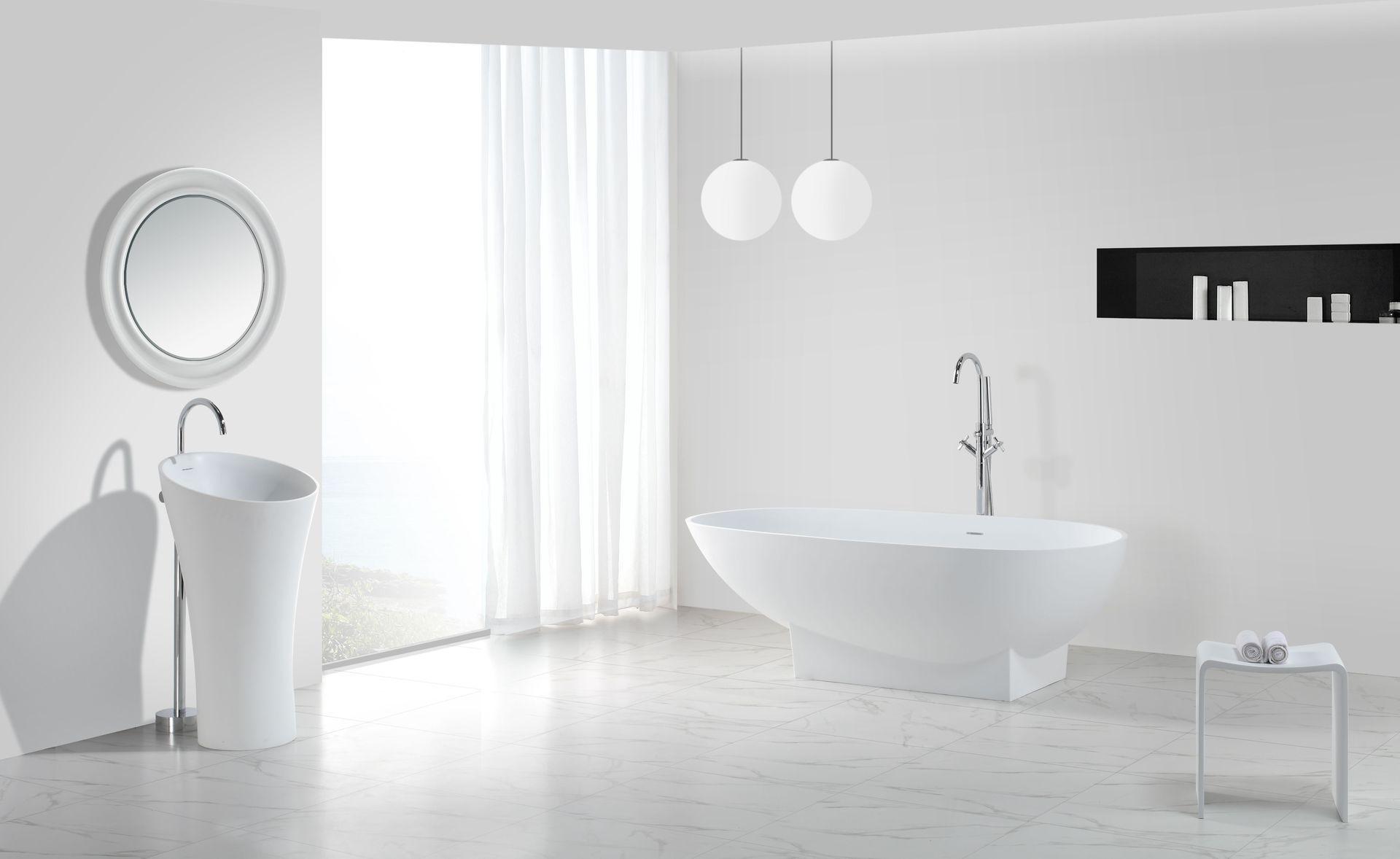 Hallo Luxus! 👋 🛁 Freistehende Badewanne DELUGO aus