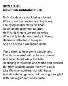 world war 1 poems from soldiers | War Poems written by those who ...