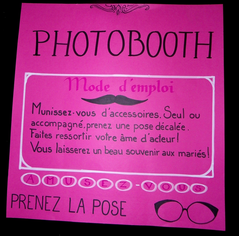 Panneau de présentation d\u0027un photobooth