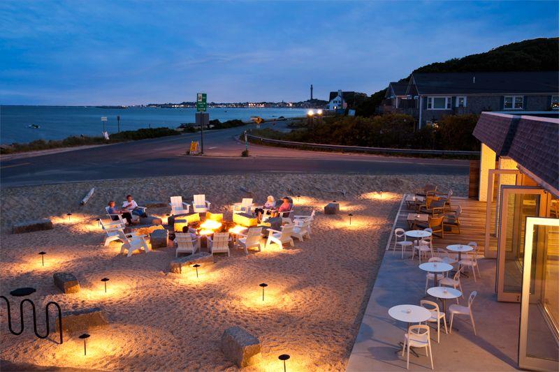 harbor hotel beach fire pit provincetown cape cod. Black Bedroom Furniture Sets. Home Design Ideas