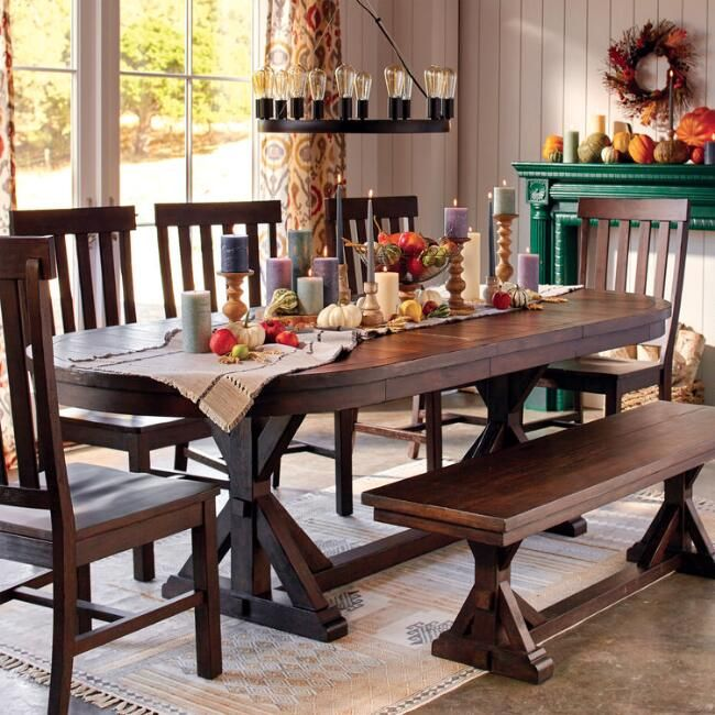 Rustic Brown Oval Wood Brooklynn Extension Dining Table Oval