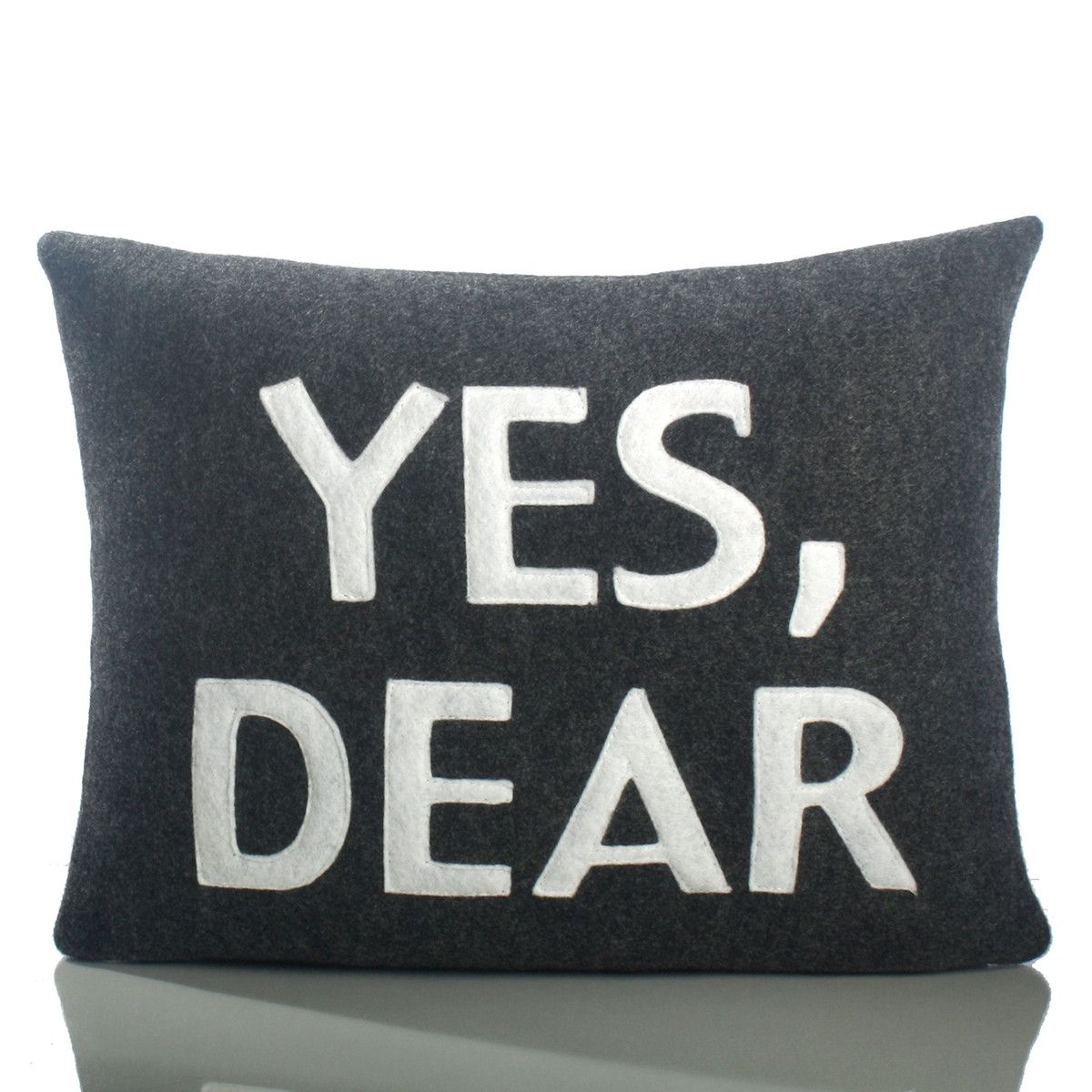 I Liked This Design On Fab Yes Dear 10x14 Charcoal Pillows Applique Pillows Throw Pillows