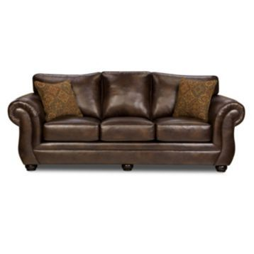 Our Gracia Chocolate Bonded Leather Sofa embodies the perfect combination of style and comfort. We think this would be beautiful in any living room! How about yours?? #kirklands #livingroom #sofa