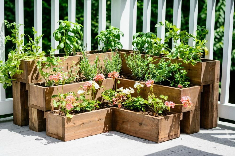 DIY Tiered Herb Garden | Diy herb garden, Raised herb ... on Tiered Patio Ideas id=46915