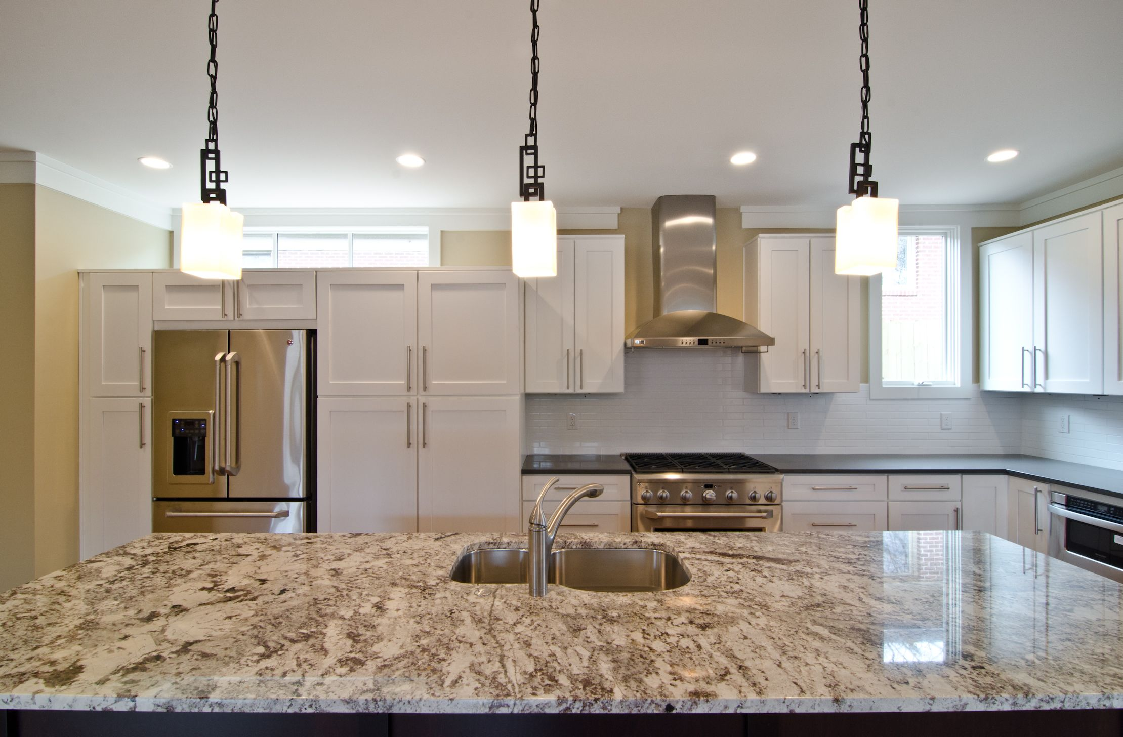 Artisan Stone Collection granite in a kitchen with clean lines