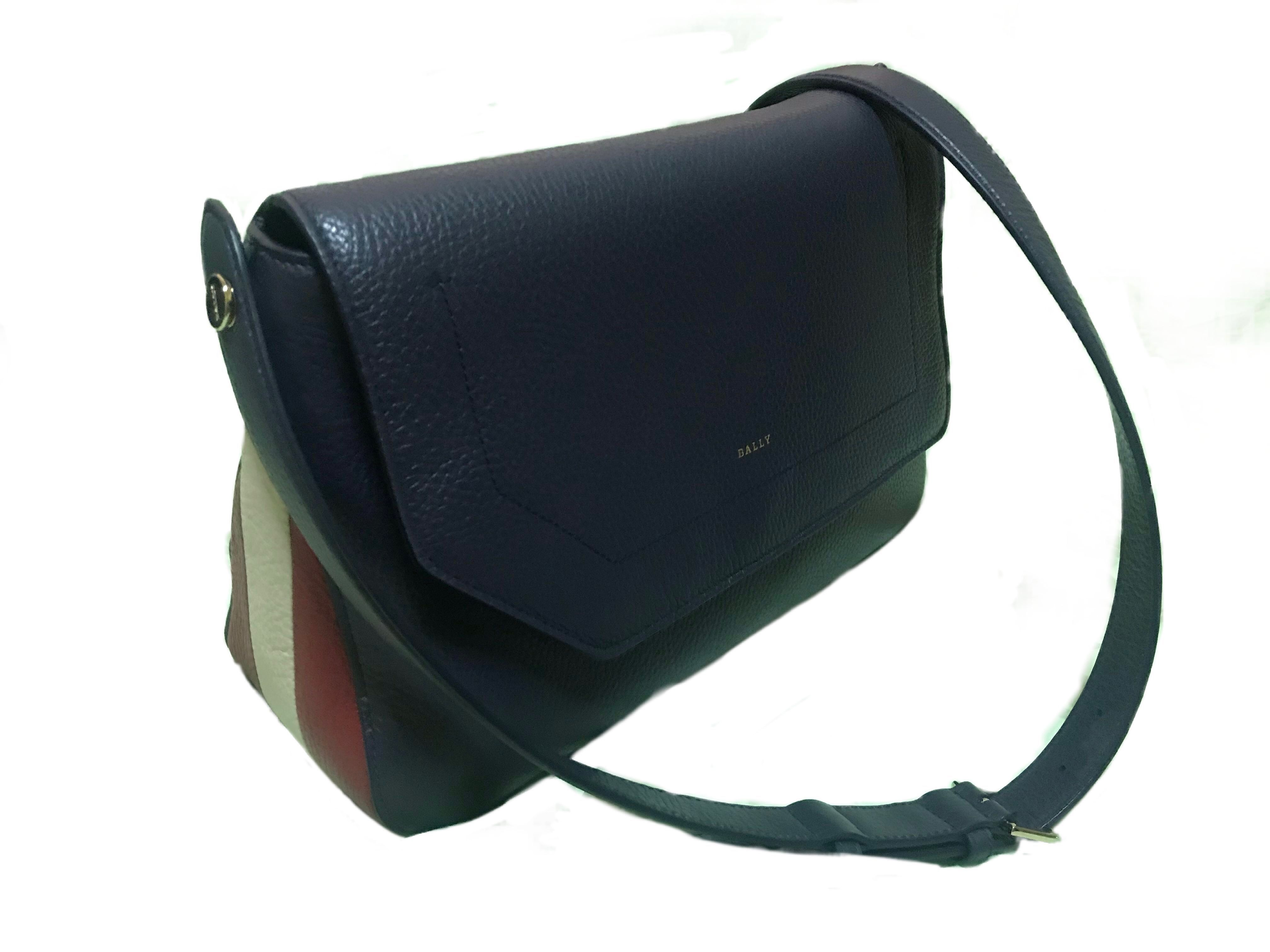 bd75aac90 Bally ❤ Bezin Cross-body bag in Marine   Arm Candy   Crossbody ...
