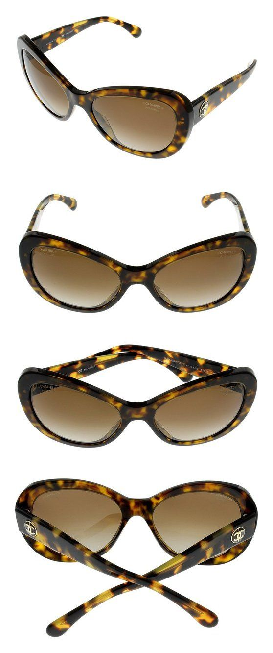 Chanel Sunglasses Womens Tortoise Oval Polarized CH5321 1172/S9 ...