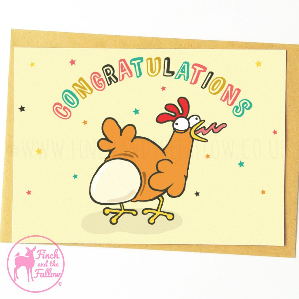 Funny Pregnancy Card Funny New Baby Card Congrats Baby Card