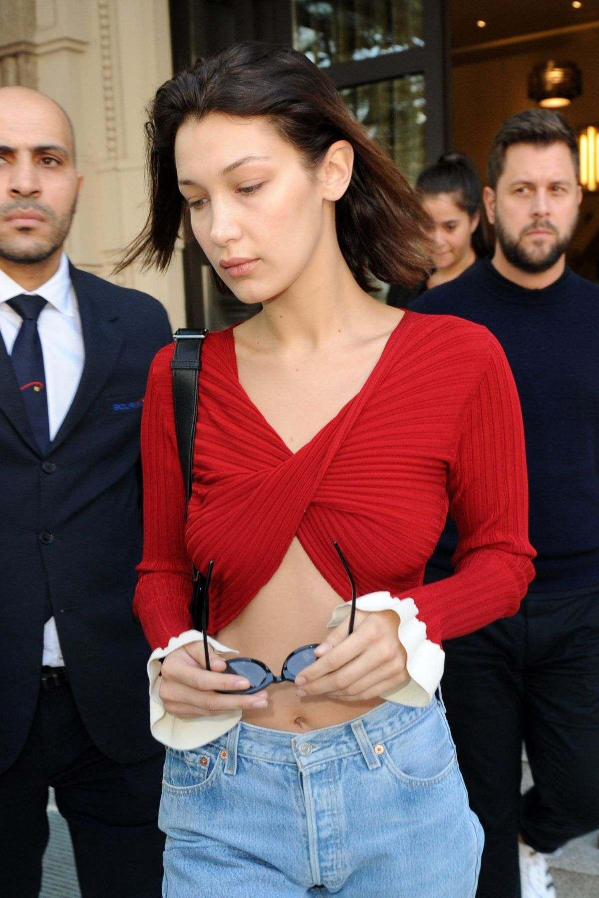 Bella Hadid leaving Her Hotel In Milan