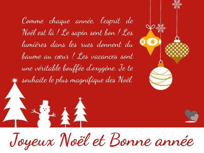 Textes Et Cartes Vœux Joyeux Noël Nouvel An Texte Joyeux