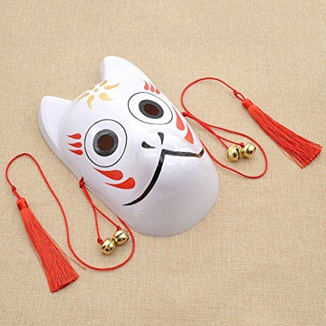 Amazon.com: Hand-Painted Fox Mask Japanese Demon Hotarubi no mori e Kinn's Cosplay Mask: Clothing