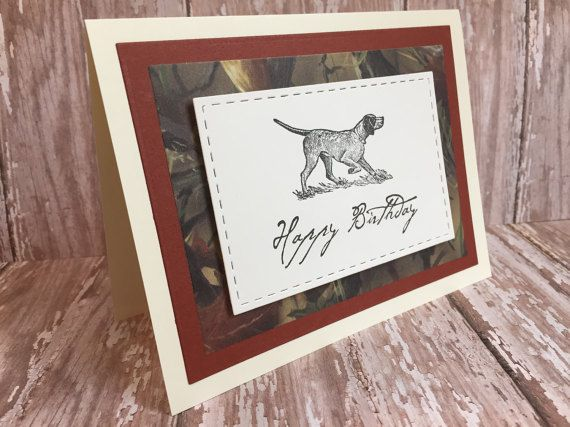 German Shorthaired Pointer Card Dog Birthday By PointingDogPaper