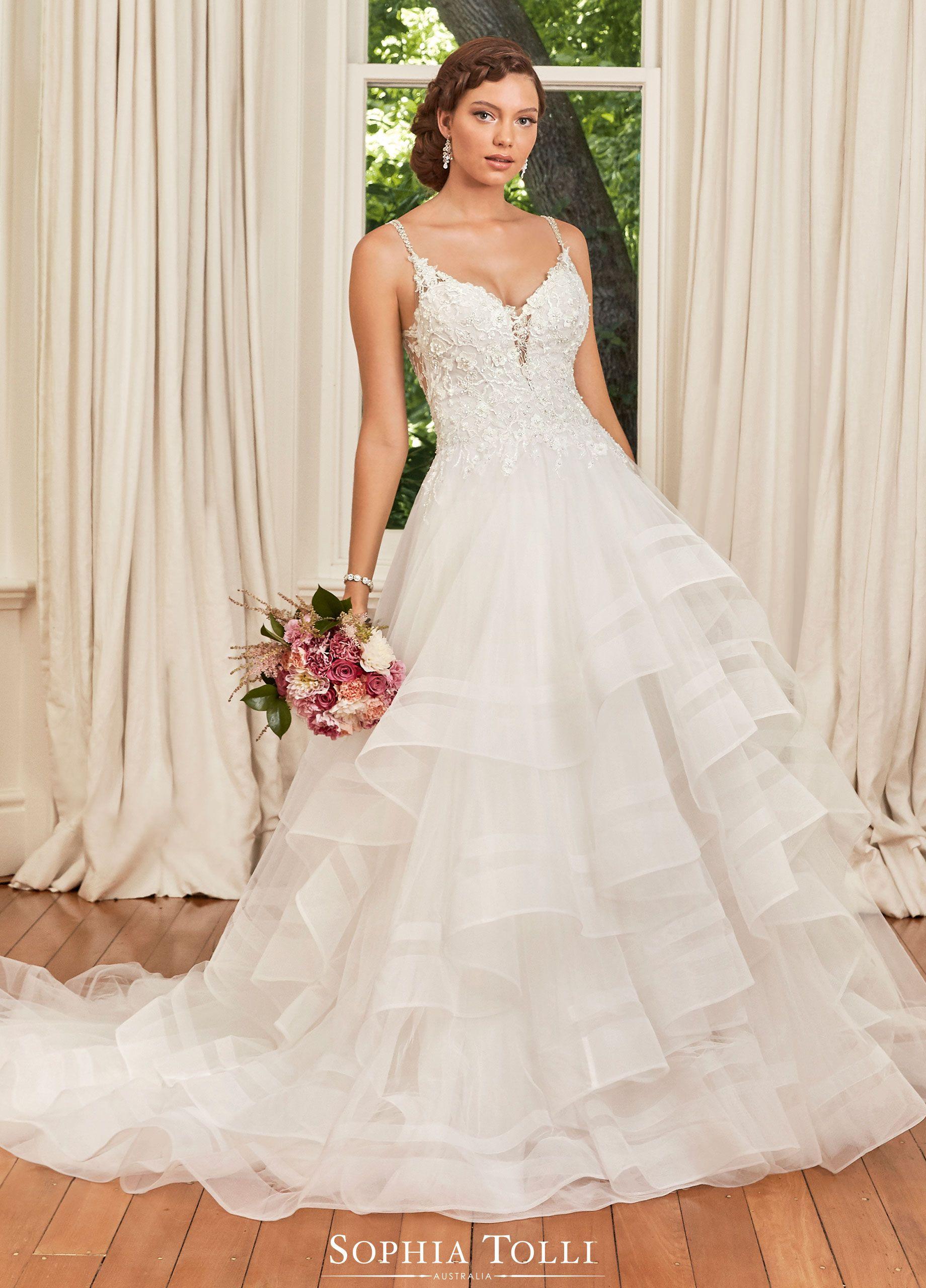 Sophia Tolli Wedding Gowns Y21989 Alesha In 2020 Wedding